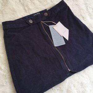 NWT Zara Navy Mini Skirt Size 10